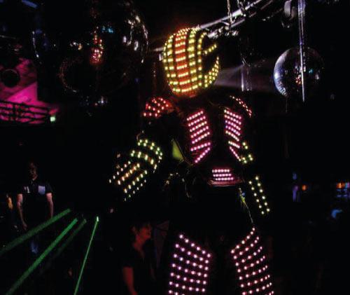show robot lumineux